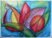 Flowers for you , Aquarell auf Büttenpapier,54x40cm, 95Euro