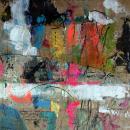 Kuehnheit-ist-Genie-mixed-Media-auf-Papier-40x40cm