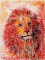 Asslan Pastel Kunstdruck 42x56cm