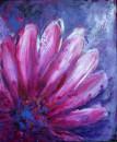 Blume magenta, Acryl 60x50cm