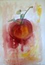 Apfel, Aquarell, 40x54cm
