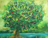Tree of life, Acryl undÖl, 30x24cm