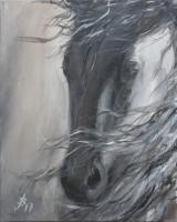 Pferdeportrait Acryl 40x50cm, 280 Euro