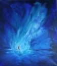 ....der Geist Gottes schwebt über den Wassern Genesis1,2, Acryl 70x80cm, 280 Euro
