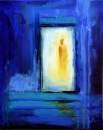 ich steh vor der Tür, Acryl 40x50cm