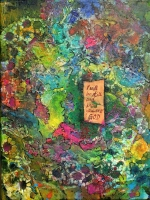 I will be still know you are GOD  Acryl,Tusche,  30x40cm, 150 Euro