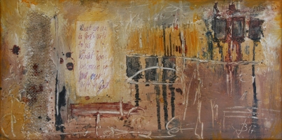 what we are is God's gift to us, what we become is our gift to God , Mixed Media 60x30cm, 180Euro