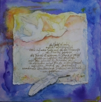 verkauft, ein Gedicht Aquarell 40x40cm